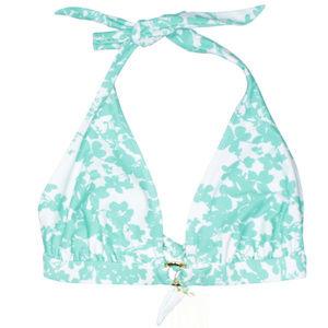 Shoshanna Floral Teal Swimsuit Bikini Top